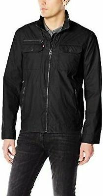 Levi's Men's Two Pocket Washed Cotton Military Jacket - Choo