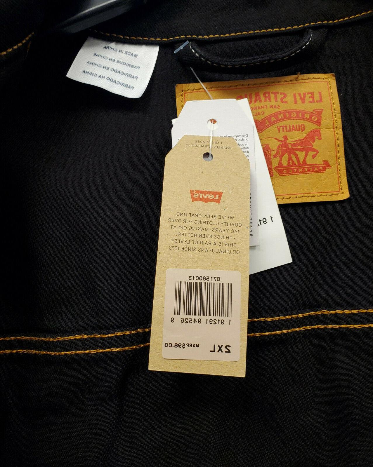 Levi's up Black Trucker Jacket Stitch