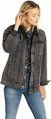 Levi's Women's Washed Cotton Sherpa Trucker Jacket