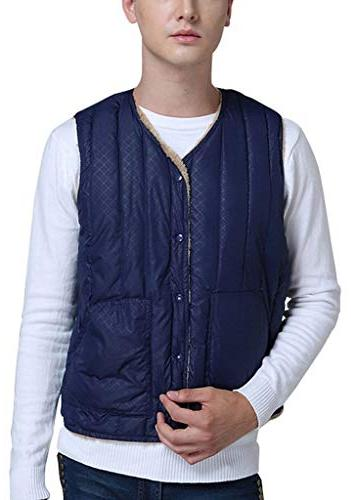 men s casual v neck lightweight quilted
