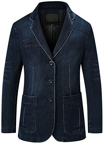 men s classic notched collar 3 button