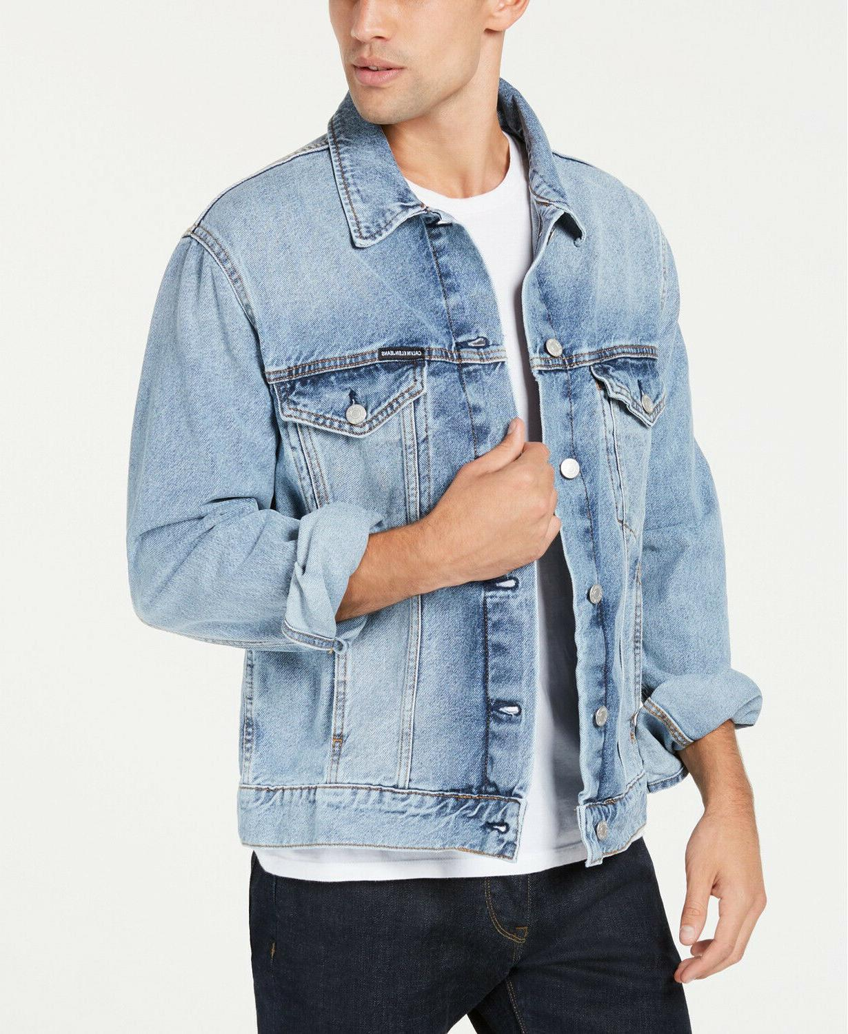 men s modern classic trucker denim jacket