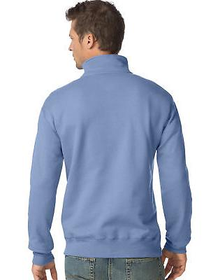 Hanes Men?s Nano Premium Lightweight Quarter Jacket Sweatshirt NWT