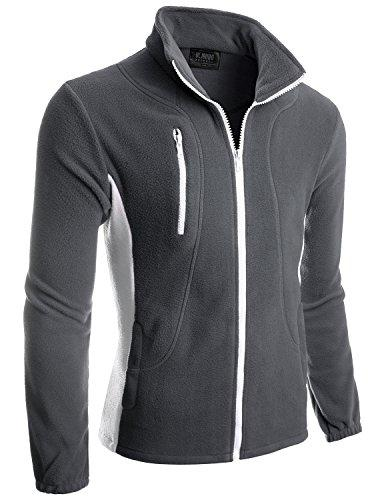 mens color contrast long sleeve outdoor lightweight