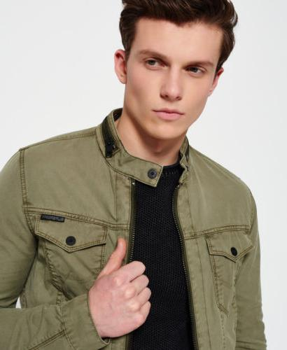 Mens Jacket Trench Green