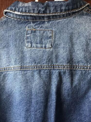 *Mens 21 Denim Jacket Side Zippers