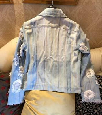 New Ruffle-Applique Jacket Fr36