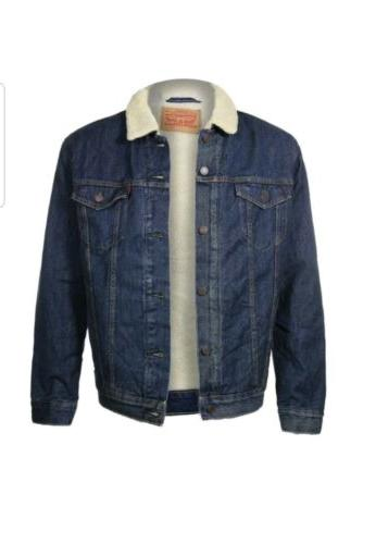 new mens levis sherpa trucker jacket denim
