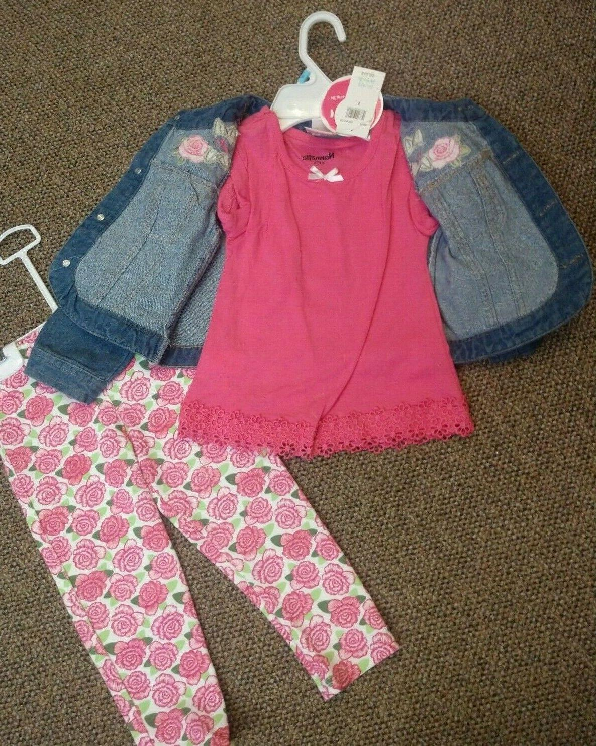 NEW NANETTE KIDS OUTFIT & LEGGINGS TWINS