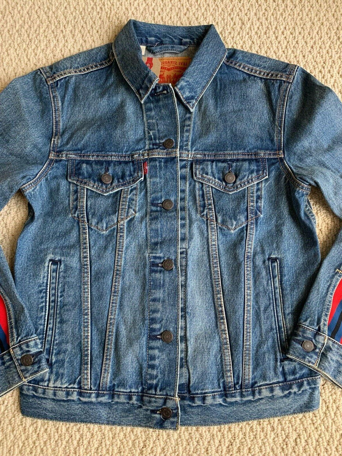 NWT Levi's Red Trucker Denim Jacket ALL SIZES