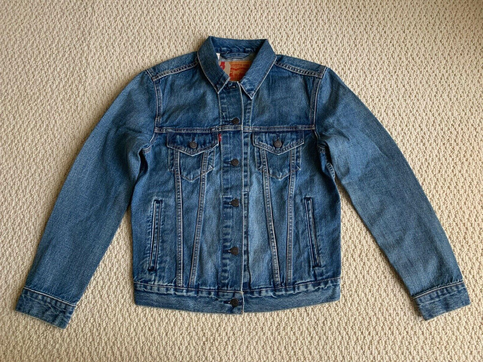 NWT Bolt Red Blue Denim Jacket SIZES S-2XL