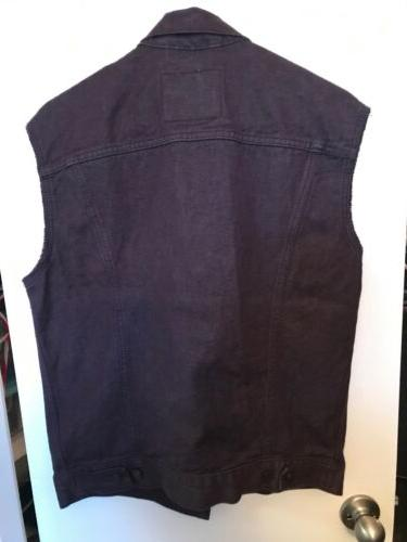 NWT TRUCKER SLEEVELESS JACKET SIZE