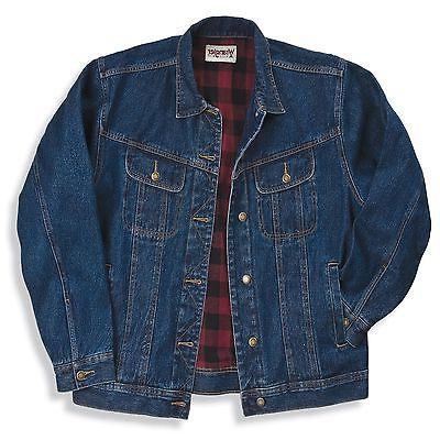 NWT Wrangler Rugged Wear Flannel Lined Jacket -  - Denim