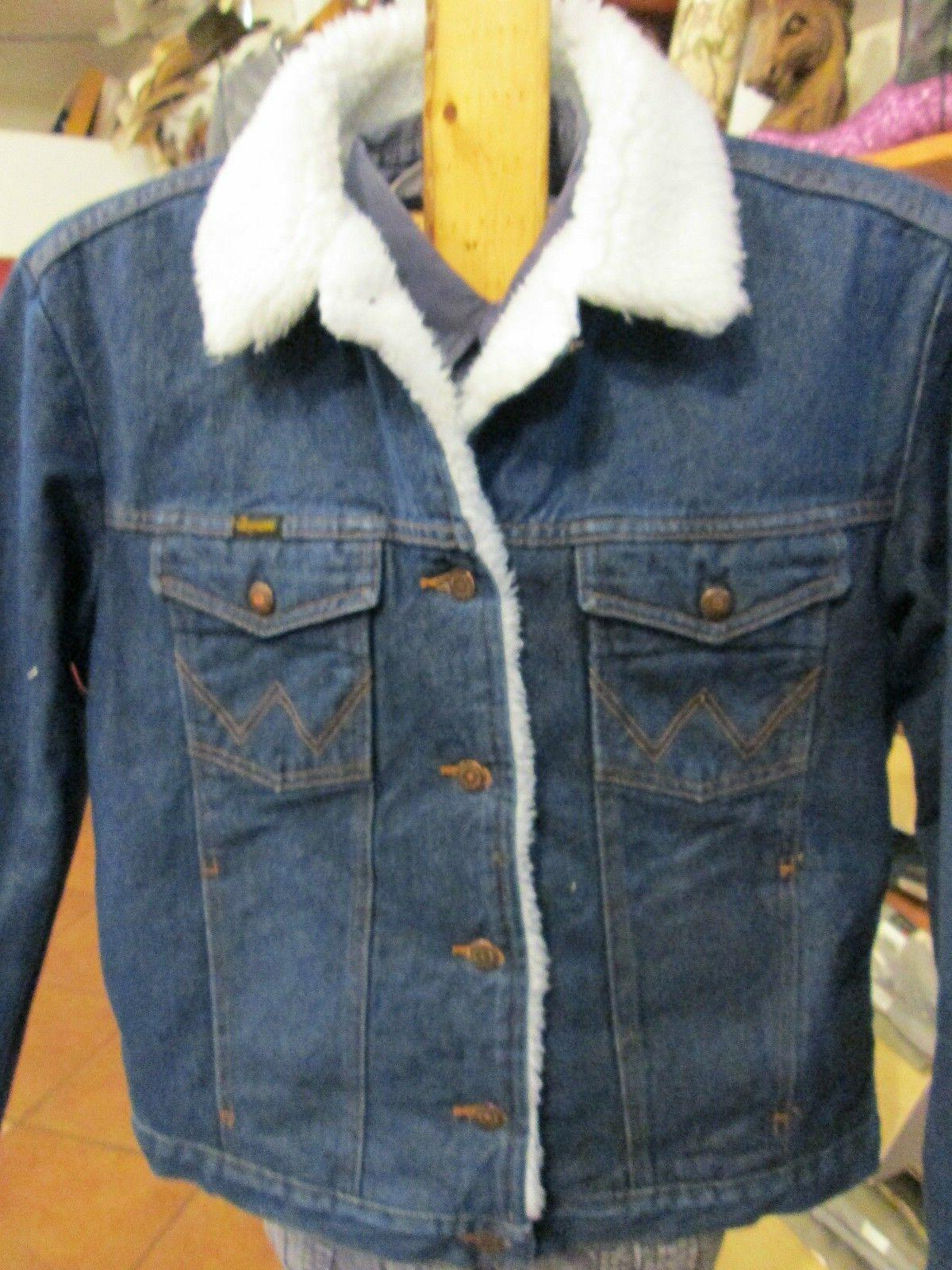NWT Wrangler Western Sherpa Lined Heavy Denim Jean Jacket Co