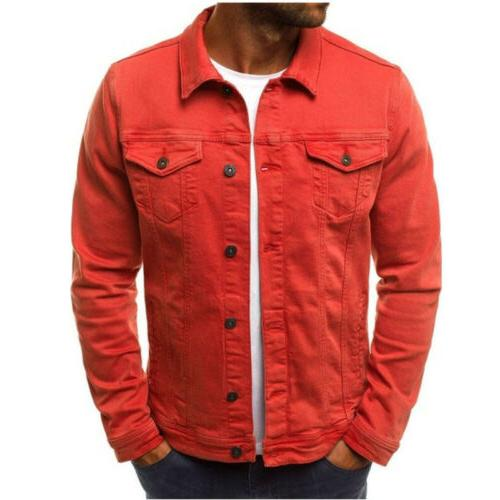 US Men's Denim Jacket Long Sleeve Outwear