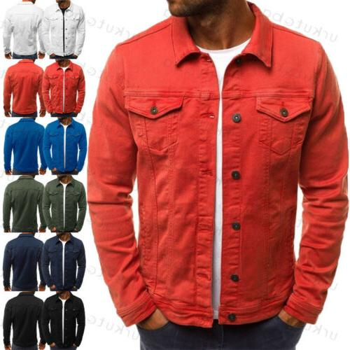 US Casual Slim Fit Retro Coat Denim Outerwear