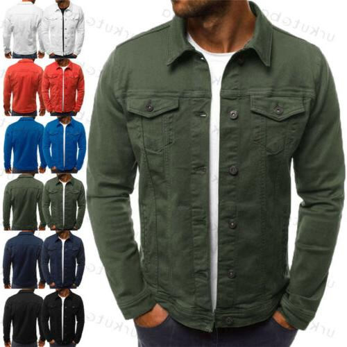 US Men's Fit Classic Retro Coat Jean Outerwear