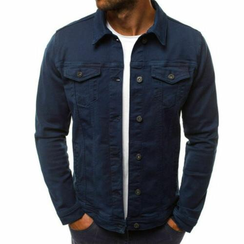 US New JEAN Western Style Trucker Jacket Coat