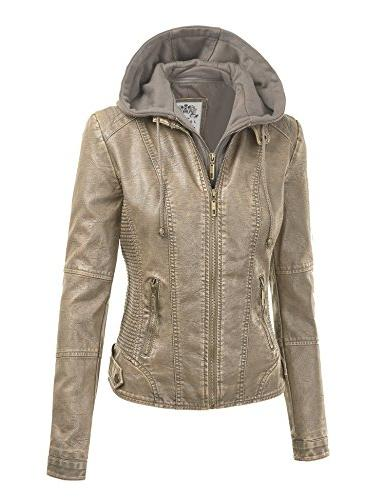 Made Johnny Womens Faux Leather Motorcycle