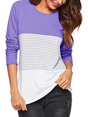 women s casual round neck long sleeve