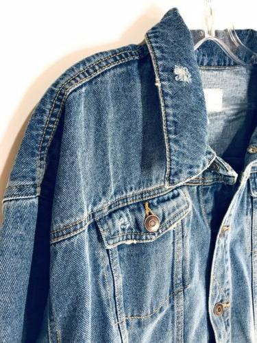 Women's Denim Ripped OverSize and