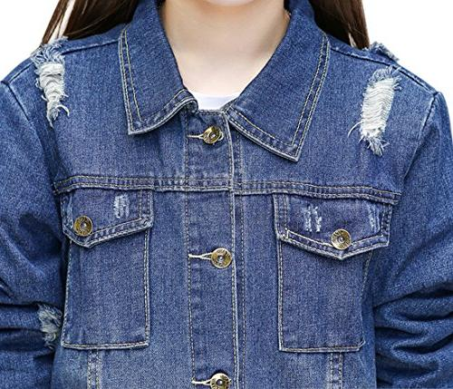 Gihuo Button Front Denim Jacket Trench Coat Size