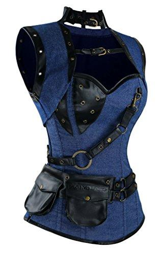 Charmian Boned Gothic Denim with Jacket and Blue