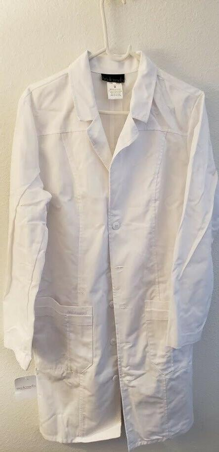 women scrubs lab coat