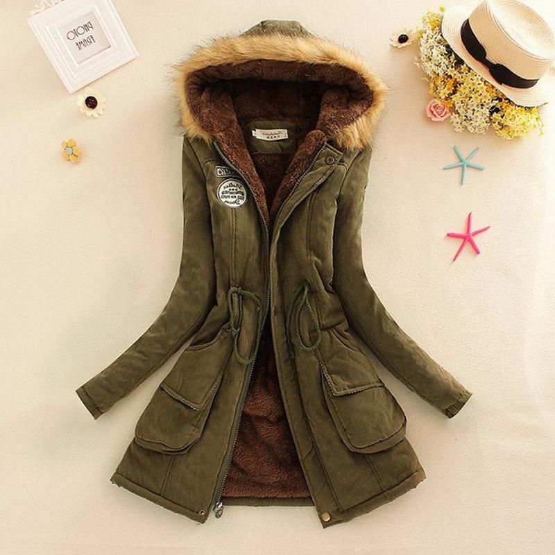 Women Winter Faux Jacket Parka