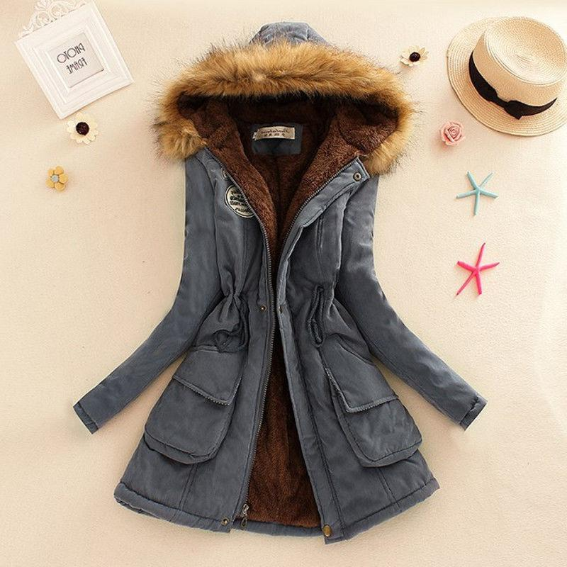 Women Winter Faux Fur Hooded Jacket Parka Advanced