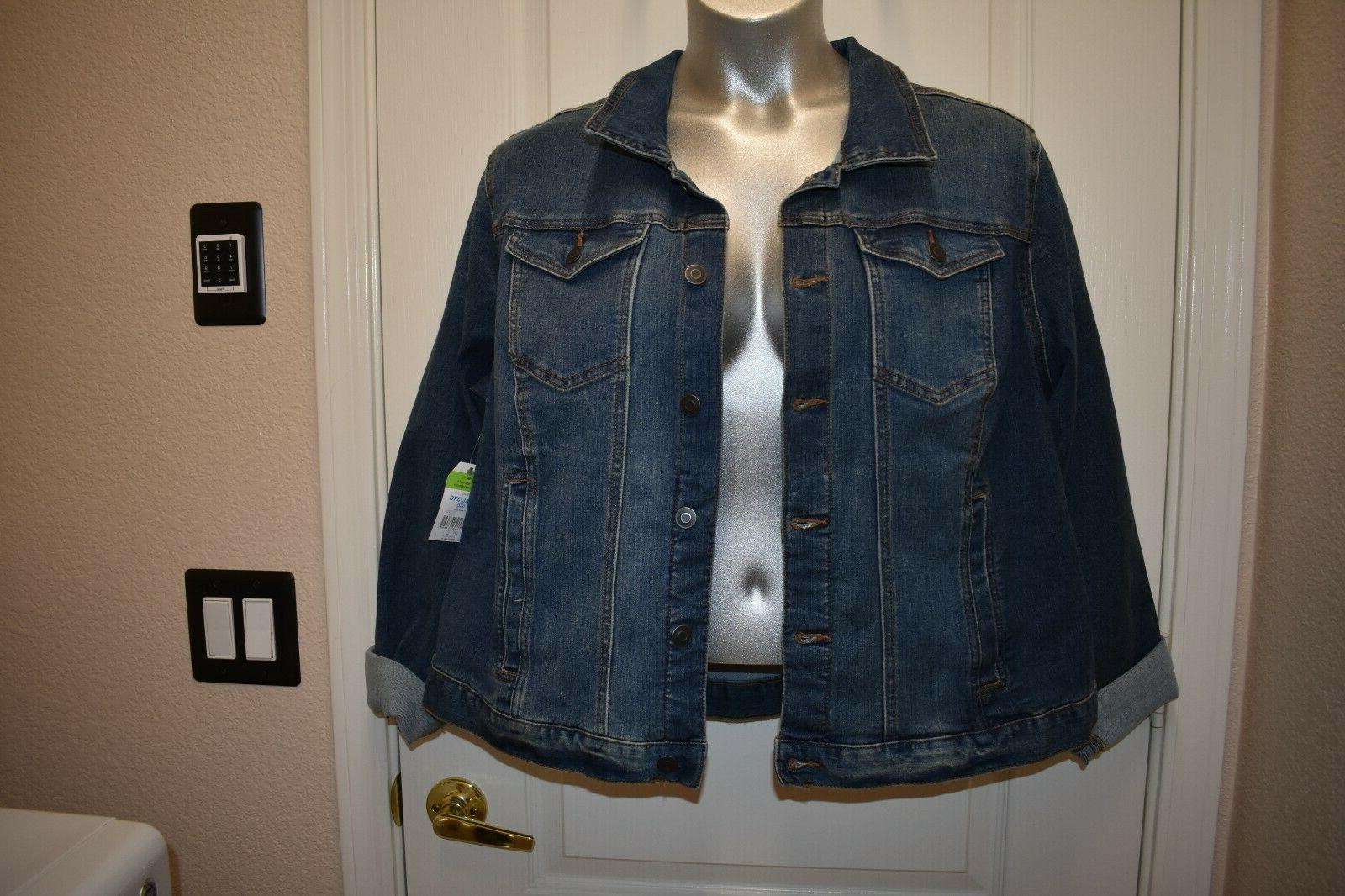 Time and Stretch Blue Jacket NWT