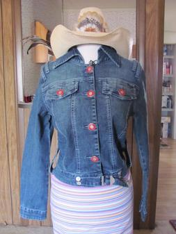 Revolt Ladies Denim Jeans Jacket  Brand New with Tags Ramie/