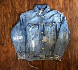 KITH LAIGHT DENIM JACKET STELLA 2.0 WASH BLUE S-XL NWT LIMIT
