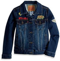 Levi's Boys' Big Denim Trucker Jacket, Stormy River, L