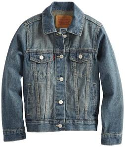 Levi's Boys' Big Kids Denim Trucker Jacket, Atlas, M
