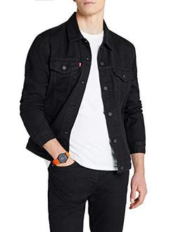Levi's Men's Berkman Trucker Jacket, Black, Medium
