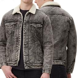 Levi's Men's Cotton Sherpa Lined Denim Jean Trucker Jacket G