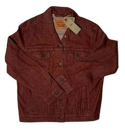 Levi's Men's Denim Trucker Jacket Red Men's Size XL New Wi