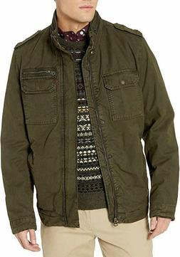 Levi's Men's Washed Cotton Two Pocket Sherpa Lined Military