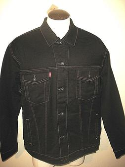 Levi's Mens Button up Denim Trucker Jean Jacket Black Gold S