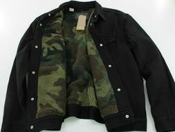 LEVI'S Mens Sherpa Camo Lined Denim Trucker Jacket XL - NEW