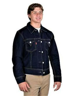 Levi's Mens TYPE 1 Trucker Jacket Made In USA Denim Blue