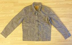 Levi's Premium Cheetah Print Trucker Denim Jacket Men's Size