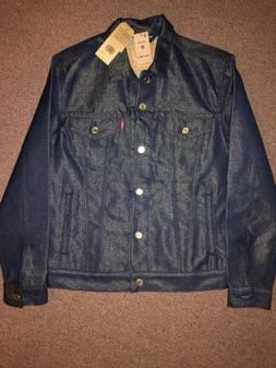 Levi's Trucker Jacket Raw Unwashed Stiff Denim Metallic Gold