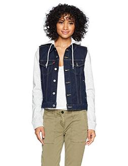 Levi's Women's Hybrid Original Trucker Jackets, Even Rinse,