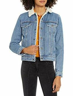 Levi's Women's Original Sherpa Trucker Jackets, Divided Blue
