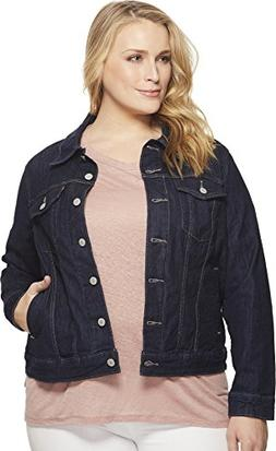 Levi's Women's Plus-Size Original Trucker Jackets, Even Rins