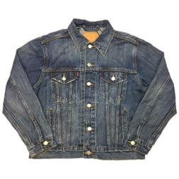 Levi's Womens Ex Boyfriend Trucker Jackets in Concrete Indig