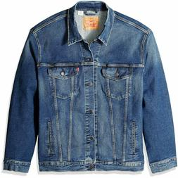 Levis Big and Tall Trucker Jacket Men's Loose Fit Blue Cotto