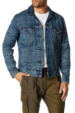 Levis Mens Classic Denim Trucker Jacket Button Up Distressed